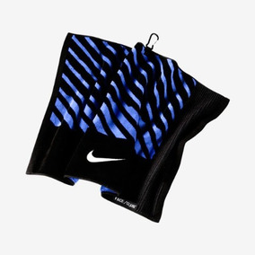 Nike Cara / Club Jacquard Toalla, Negro / Blanco / Azul Mil