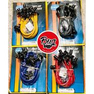Cables Para Bujías Bug Pack De 8mm Color Rojo