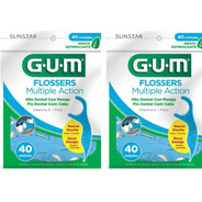 Gum Flossers - Multiple Action Hilo Dental Mango Menta 40ux2