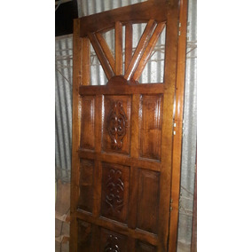 Puerta Rayito De Sol Tallada