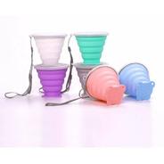 Vasos De Silicona Plegables Reutilizables