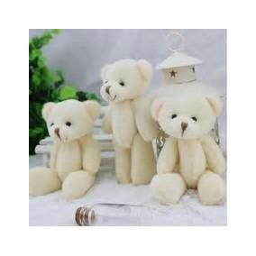 10 Lembrancinhas Chaveiro Ursinho Urso De Pelúcia 10cm Bege