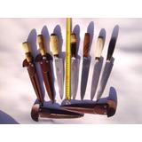 Pack 3 Cuchillos Artesanales Tandil 18 Cm C/vaina