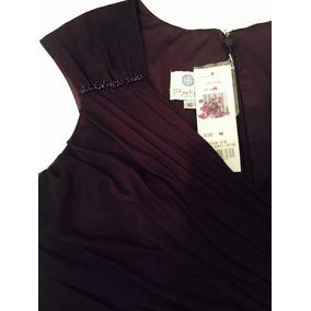 Vestido De Fiesta Madrina Largo Violeta Talle 16