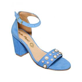 Zapatilla Perlas Durazno Azul-mod.0125or5822351