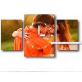 Reloj Cuadro Triptico Personalizado Con Tu Foto