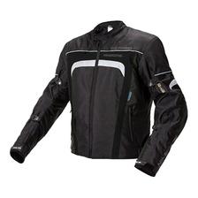 Campera Moto Nto Cordura City Negro By Ls2 C/proteciones Fas