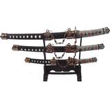 Kit 3 Espadas Samurai + Suporte