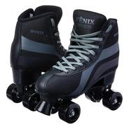 Patins 4 Rodas Clássico Preto Menino Roller Skate Promoção