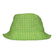 Bucket Hat Doble Vista Estampado Verde  / Blanco.
