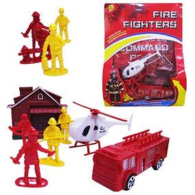 Kit Bombeiro Com Acessorios Fire Fighters