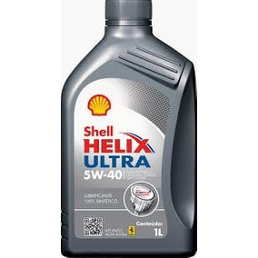 Kit C/5 Óleo Motor Shell Helix Ultra 5w40 Api Sn Sintético