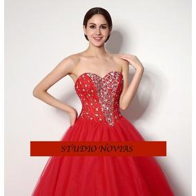 Vestidos Xv Años Quinceaños 15 Años Coral,rojo En Promocion
