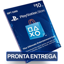 Cartão $10 Dólares Psn Card Us Playstation Network Ps3 Ps4