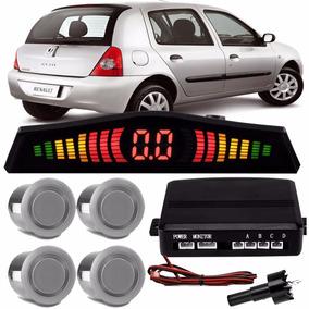 Sensor De Re Estacionamento Prata Renault Clio Hatch 2011 12