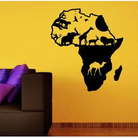 Increíble Vinilo Decorativo África Selva Animales