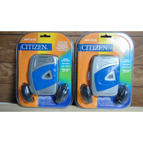 Walkman (k7+radio Am/fm) *citizen Aw-310. Novo! Lacrado!