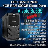 Cpu Core I7 2da 4gb Ram 500gb Hdd
