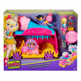 Nova Polly Pocket C/ Carro Carnaval Carro Sorvete Mattel