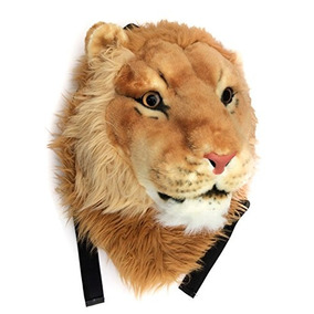Viahart Auténtico Tigerdome Lion Animal Head Mochila Mochil
