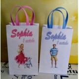 30 Sacolinhas Personalizada Barbie E Ken