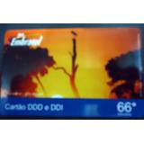 Cartão Pré Pago Embratel Tuiuiu 66 - Amostra T: 200 S/ Nº
