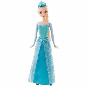 Boneca Princesa Elsa Brilhante Disney Frozen Original Mattel