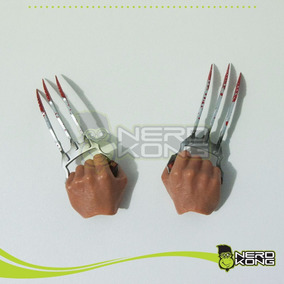 Soco Inglês Com Garras Wolverine 1/6 P/ Hot Toys - Nerdkong