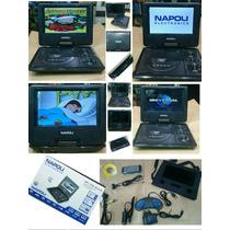 Dvd Portátil Napoli 7 Poligadas Npl7050 Black Suporte Brinde