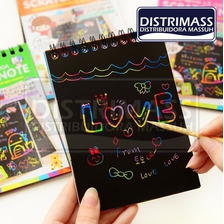 Cuaderno Magico De 10 Hojas Anilladas Rainbow Scratch