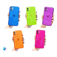 Funda iPhone Protector Candy Neon Airbag Resistente Case 3d