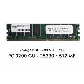 Memoria Ram Marca Sym@x Ddr-400 Pc 3200 Para Pc 512 Mb