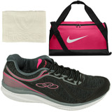 Kit Fitness Feminino Tênis Olympikus 422+ Bolsa Nike+ Toalha