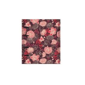 Caderno Otima Floral 177 Vermelho Argolado 170fl 4198-4