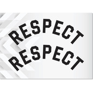2x Adesivos Respect Curvados Lords - Brancos - 23x8cm Cada