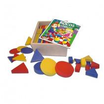 Blocos Lógicos 48 Peças Brinquedo Educatico Em Madeira Mdf