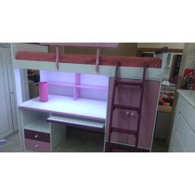 cama con escritorio laqueado brillante nuevo color