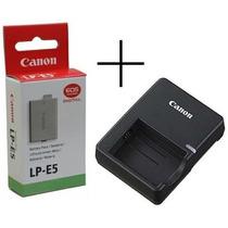 Bateria Canon Lp-e5 Digital Rebel T1i Xsi Xs 500d+carregador
