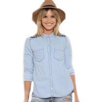 Camisa Jean Mujer Bordada Temporada Otoño Invierno 2017