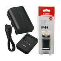 Bateria Canon Lp-e6 Original + Carregador Lc-e6e 60d 7d 5d