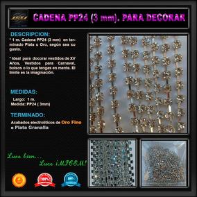 1 M Cadena Pp24 - 3 Mm Decorar Vestidos Bolsos Zapatillas
