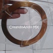 Alambre Bisuteria Aluminio Plano 3.5 Mm X 5 Mts Color Cobre