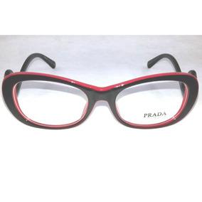 4e9572abded33 Armação Feminina Para Óculos De Grau Prada Marrom - Óculos Preto no ...
