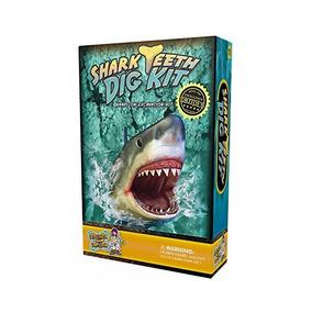Diente De Tiburón Dig Kit - Desenterrar 3 Real Tiburón Fósil