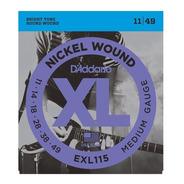 Encordado Daddario 011 - 049 Exl115 Guitarra Eléctrica