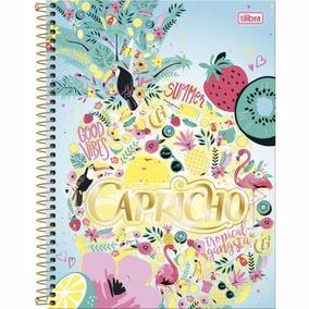 Caderno Espiral Capa Dura Universitário 1 Mat Capricho 2018