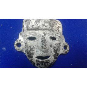 Mascara Teotihuacana De Barro Megro Brunido