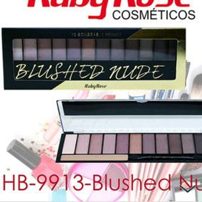 Kit 12 Paletas Sombra Blushed Nude Ruby Rosê