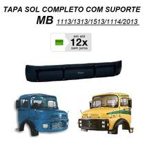Tapa Sol Caminhão Mb 1113 1513 2013 Acrilico C/ Suporte