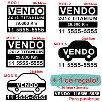 Cartel Calco Vinilo Vendo Auto 25cm + 1 De Regalo!